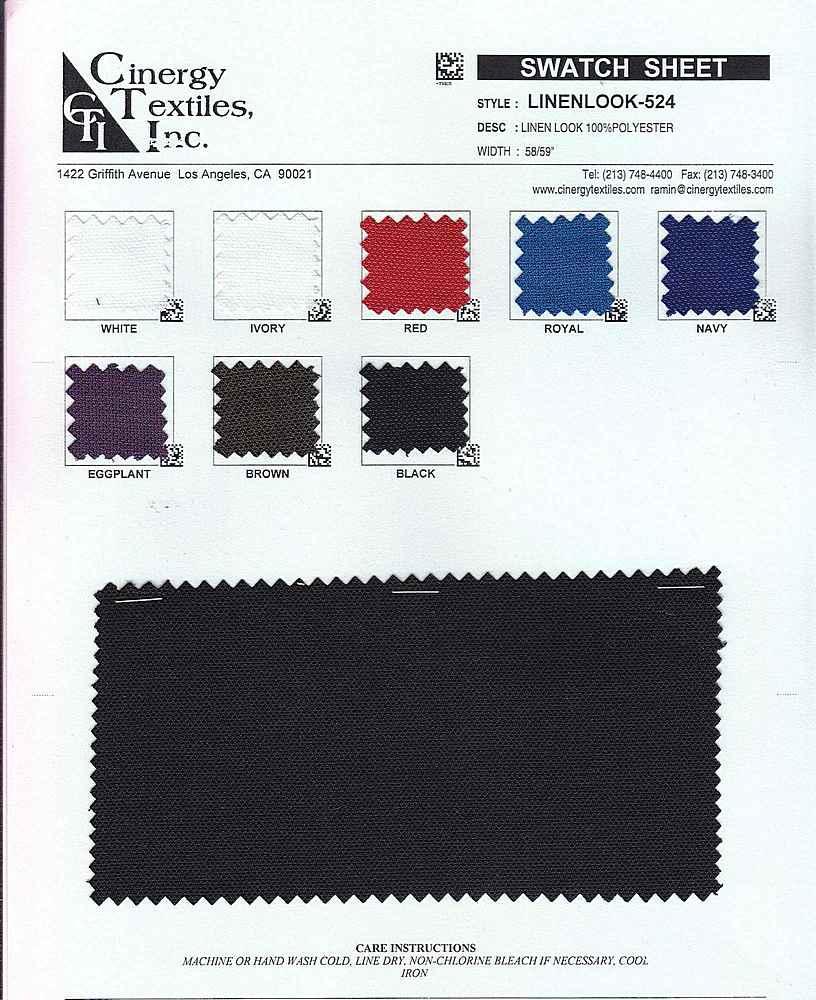 LINENLOOK-524 / Woven Linen Look 100%Polyester