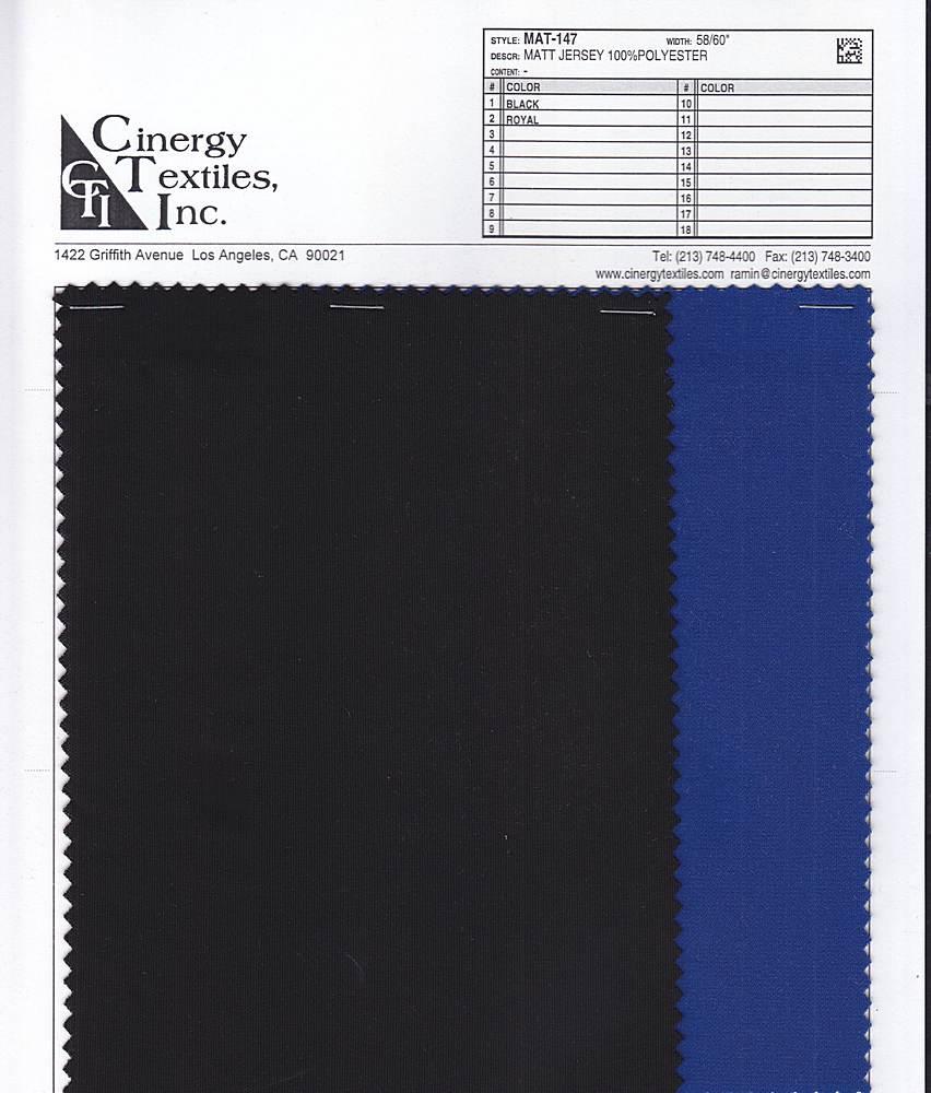 MAT-147 / Matt Jersey 100%Polyester