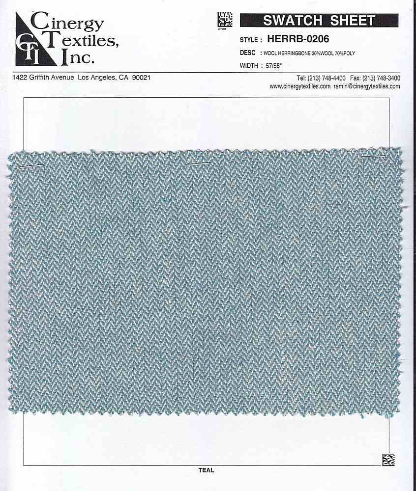 HERRB-0206 / Wool Herringbone 30%Wool 70%Poly