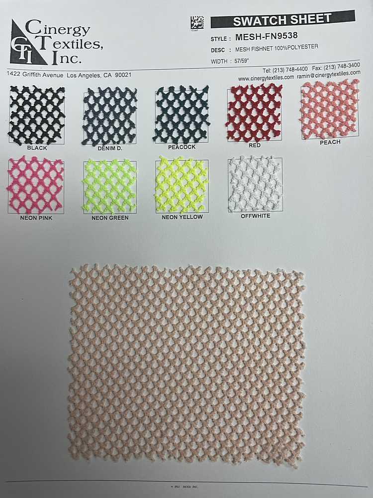 MESH-FN9538 / Mesh Fishnet 100%Polyester