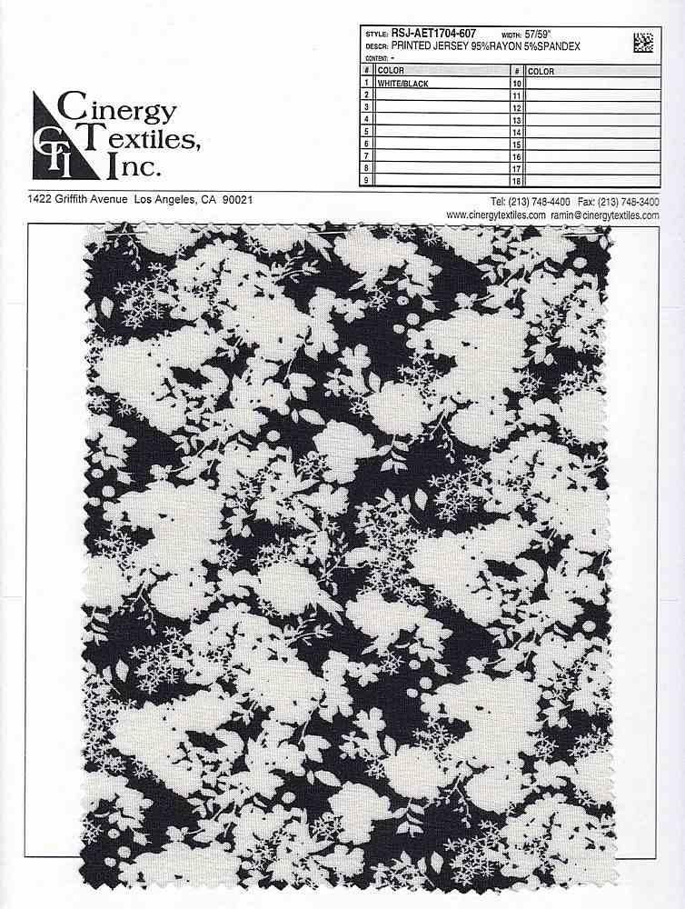 RSJ-AET1704-607 / Printed Jersey 95%Rayon 5%Spandex
