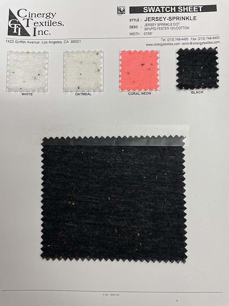 JERSEY-SPRINKLE / Jersey Sprinkle Dot 90%Polyester 10%Cotton