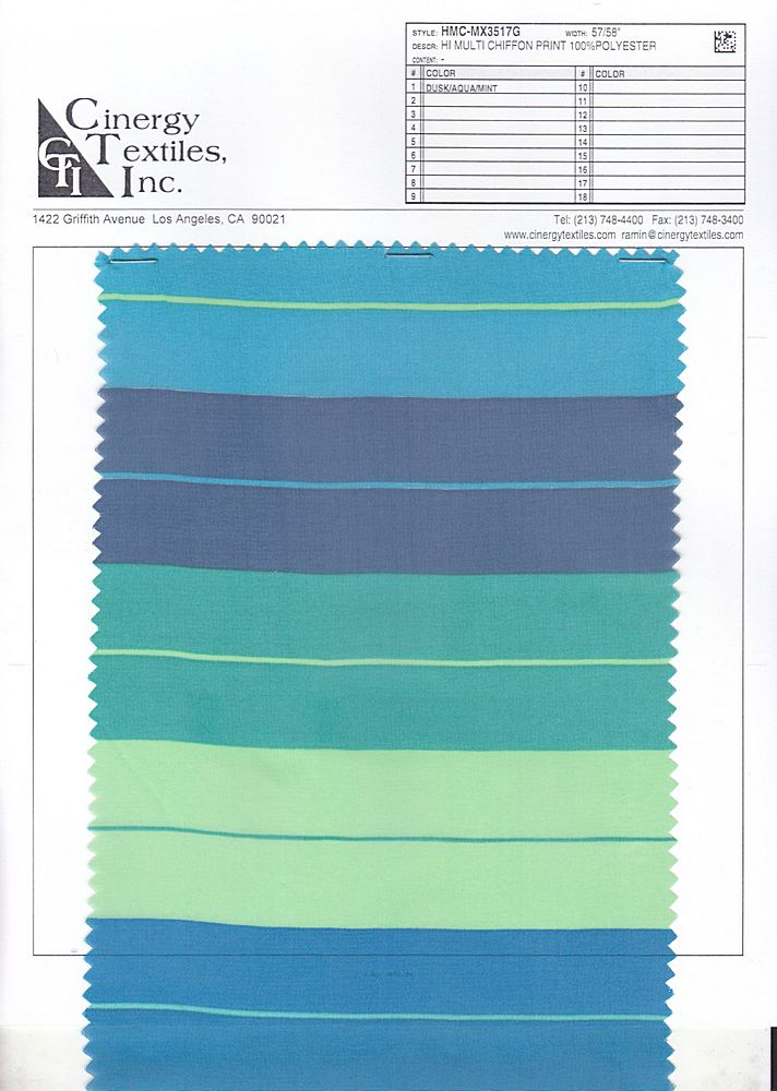 HMC-MX3517G / Hi Multi Chiffon Print 100%Polyester