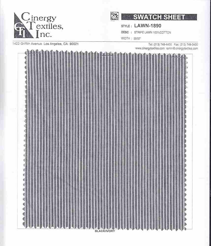 LAWN-1890 / Stripe Lawn 100%Cotton
