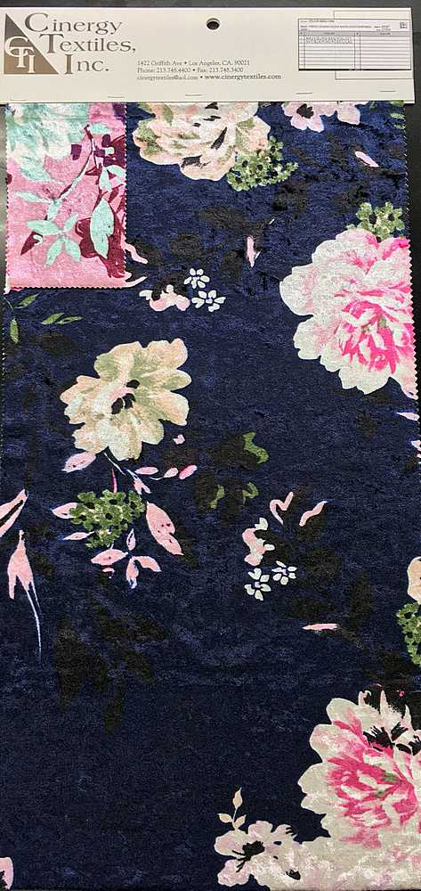 VELCR-6562-1466 / Printed Crushed Velour 92%Polyester 8%Spandex