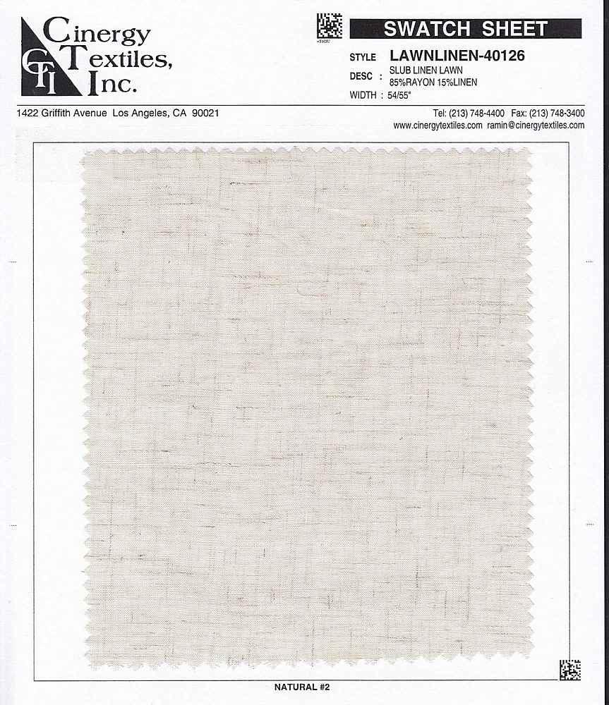 LAWNLINEN-40126 / Slub Linen Lawn 85%Rayon 15%Linen