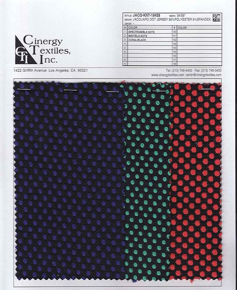 JACQ-KNT-18438 / Jacquard Dot Jersey 92%Polyester 8%Spandex