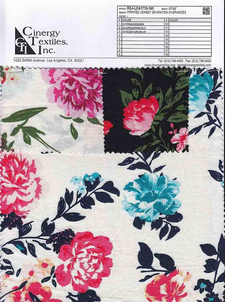 RSJ-LCA1712-160 / Printed Jersey 96%Rayon 4%Spandex
