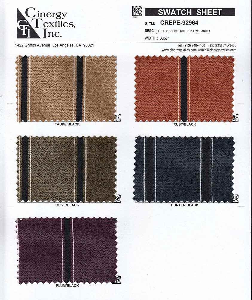 CREPE-92964 / Stripe Bubble Crepe Poly/Spandex