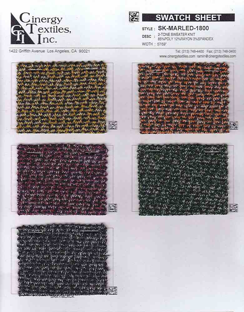 SK-MARLED-1800 FAMILY RAYON/VISCOSE/TENCEL KNIT SWEATER TOP/DRESS WEIGHT POLYESTER/NYLON SPANDEX