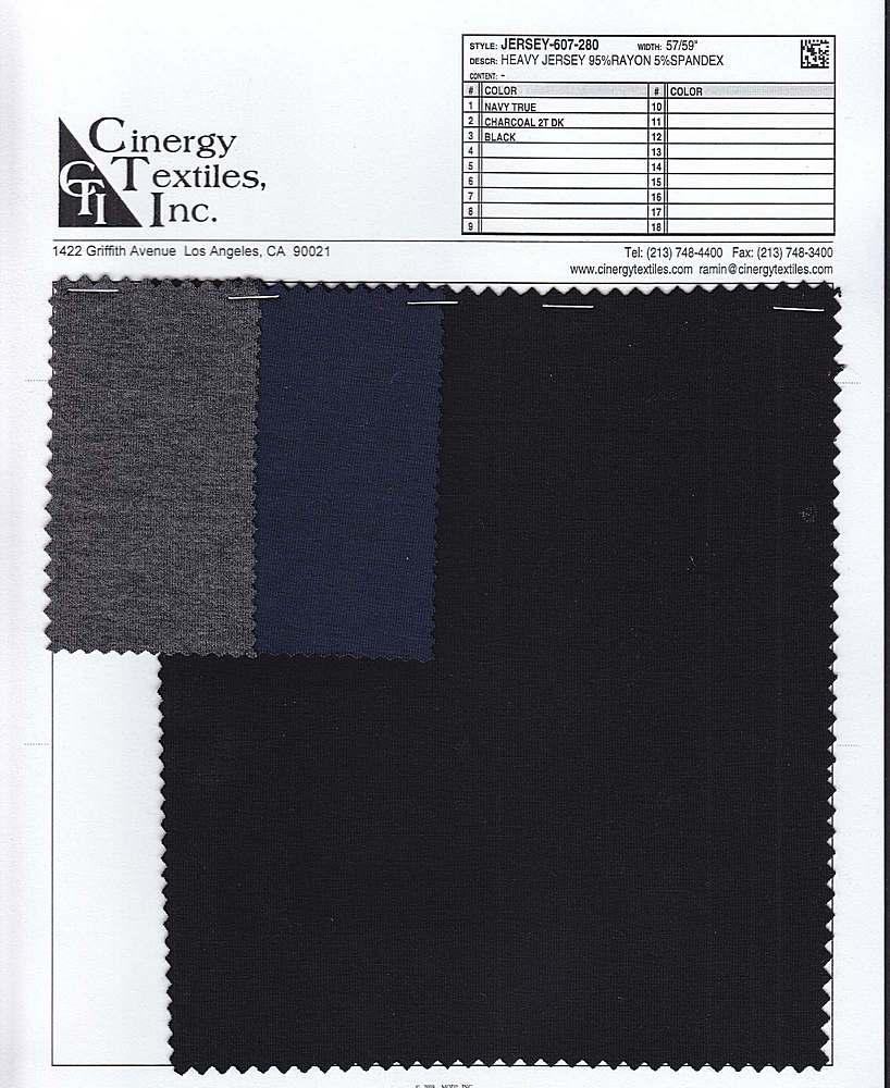 JERSEY-607-280 / Heavy Jersey 95%Rayon 5%Spandex