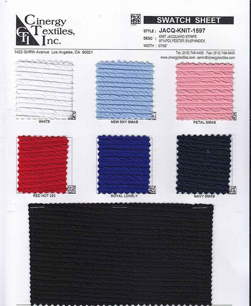 JACQ-KNIT-1597 / Knit Jacquard Stripe 97%Polyester 3%Spandex