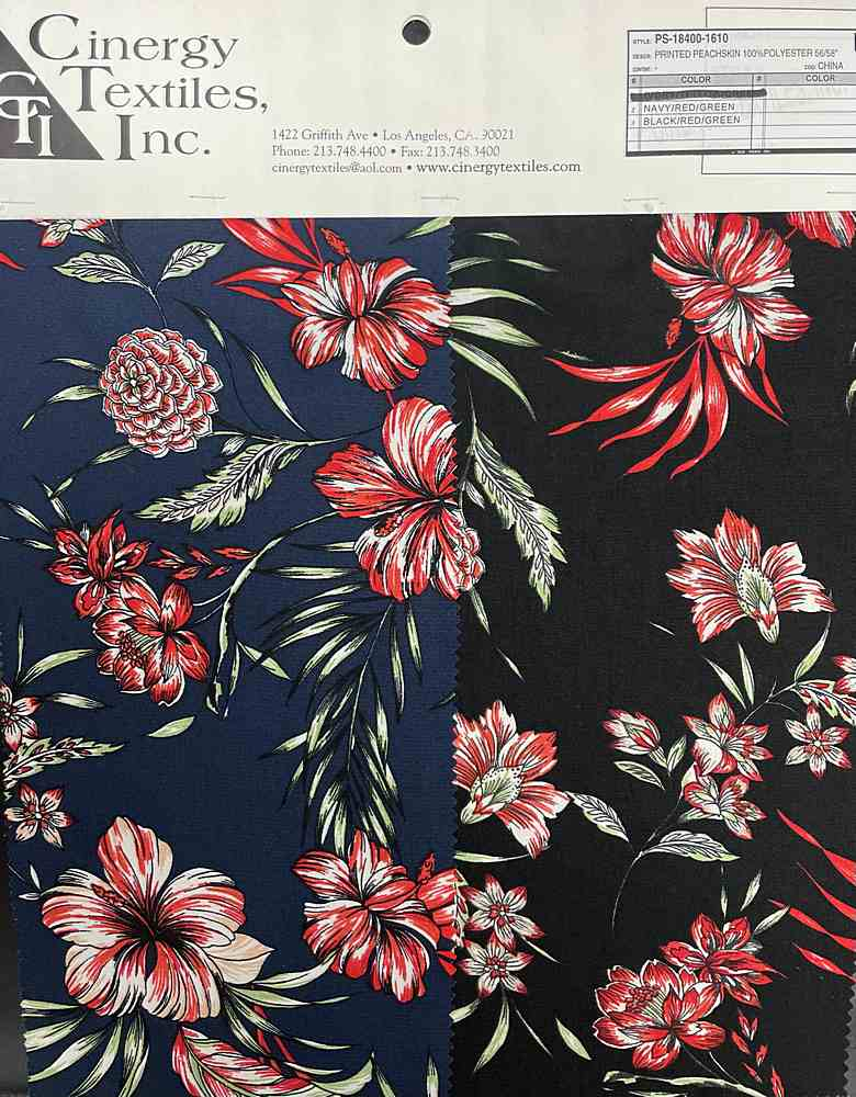 PS-18400-1610 / Printed Peachskin 100%Polyester