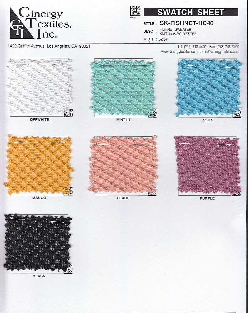 SK-FISHNET-HC40 / Fishnet Sweater Knit 100%Polyester