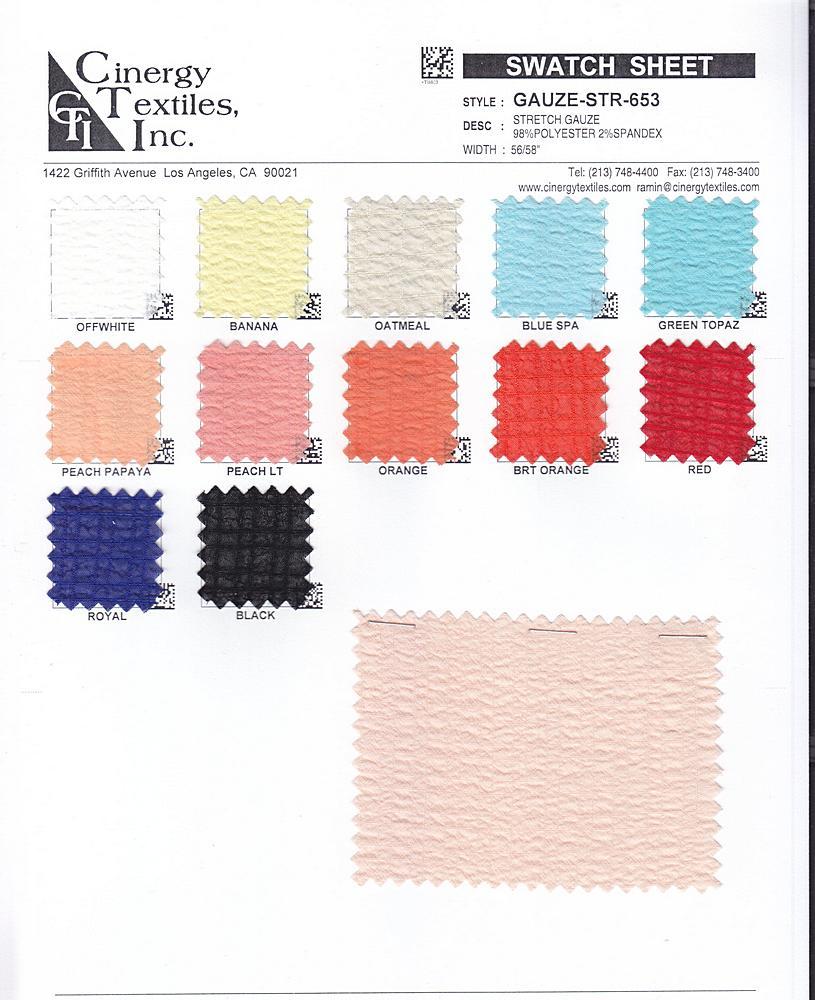 GAUZE-STR-653 / Stretch Gauze 98%Polyester 2%Spandex