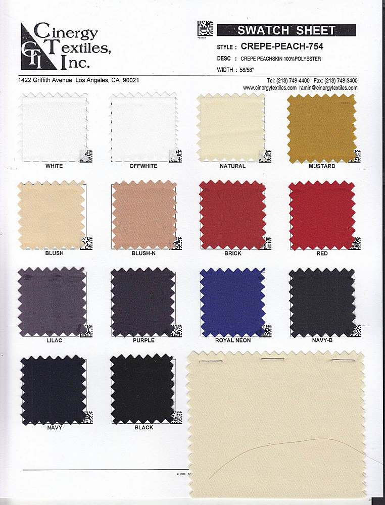 CREPE-PEACH-754 / Crepe Peachskin 100%Polyester