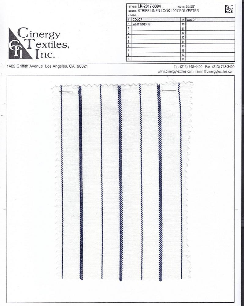 LK-2017-3394 / Stripe Linen Look 100%Polyester