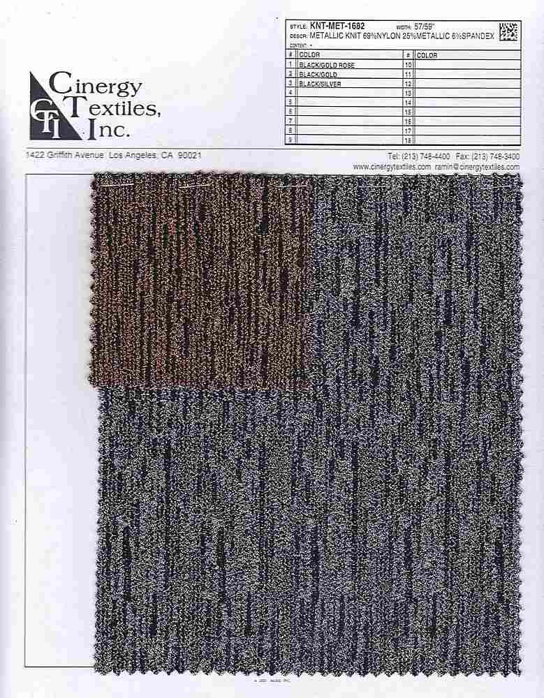 KNT-MET-1682 / Metallic Knit 69%Nylon 25%Metallic 6%Spandex