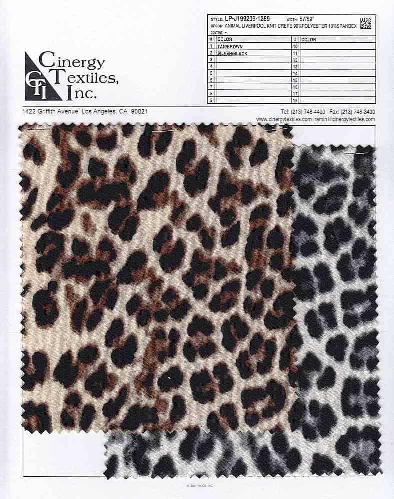 LP-J199209-1289 / Animal Liverpool Knit Crepe 90%Polyester 10%Spandex