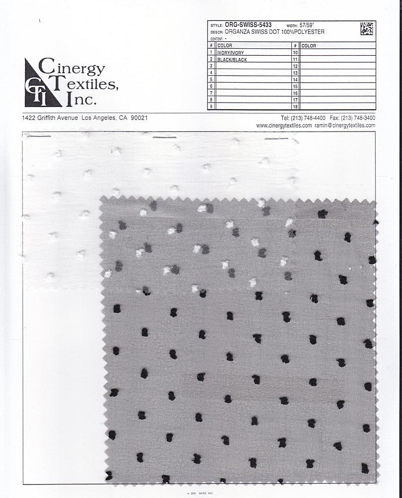 ORG-SWISS-5433 / Organza Swiss Dot 100%Polyester