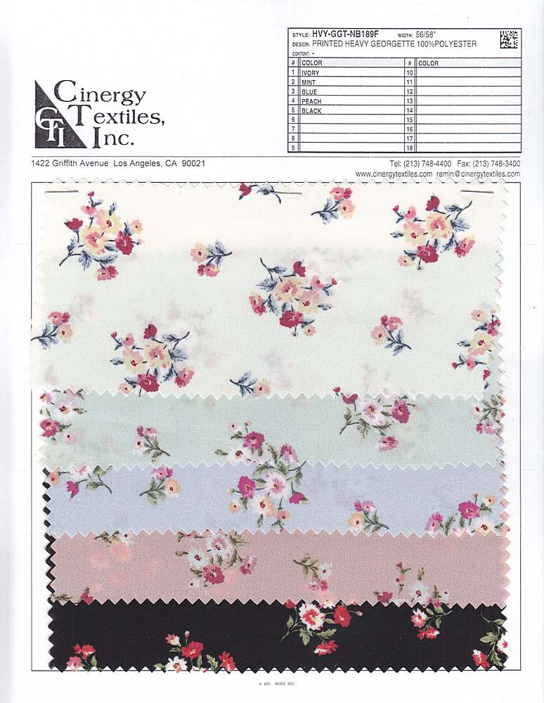HVY-GGT-NB189F / Printed Heavy Georgette 100%Polyester
