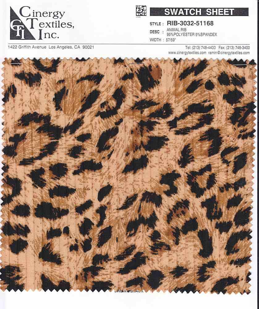 RIB-3032-51168 / Animal Rib 95%Polyester 5%Spandex