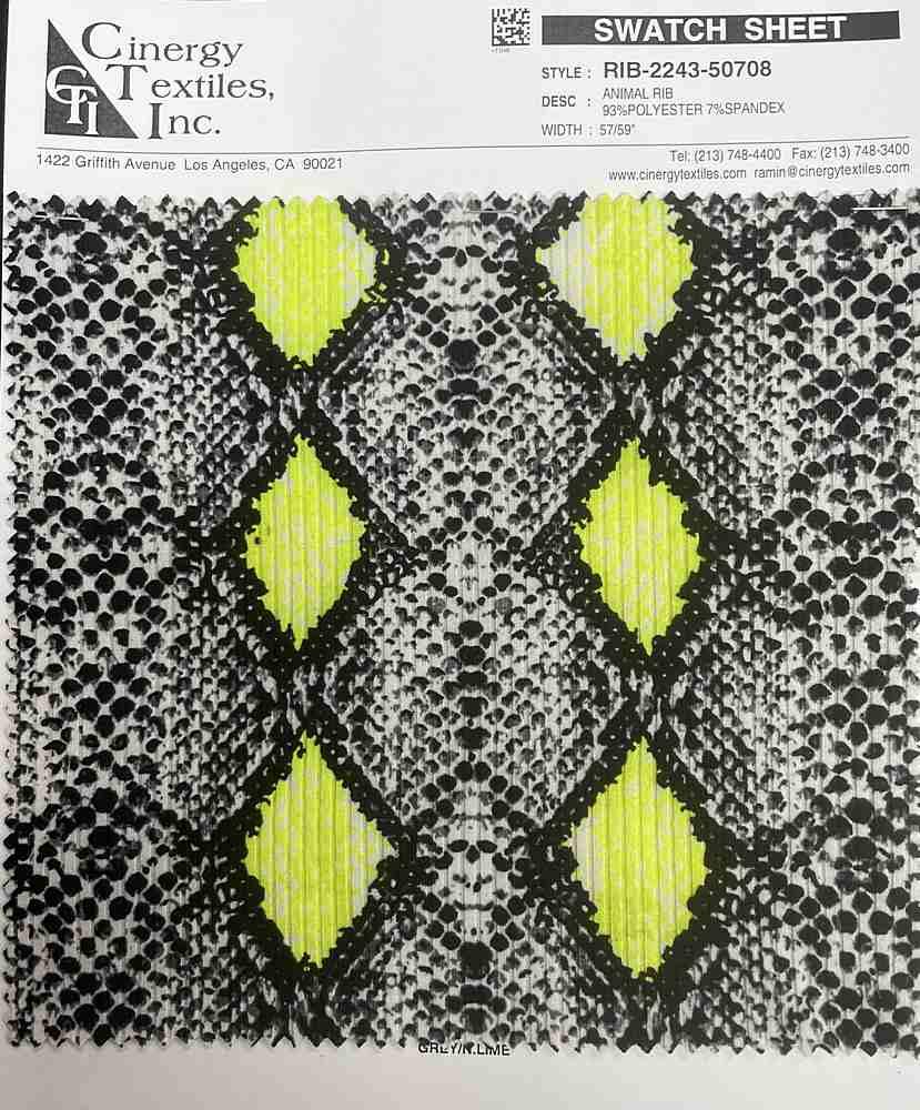 RIB-2243-50708 / Animal Rib 93%Polyester 7%Spandex