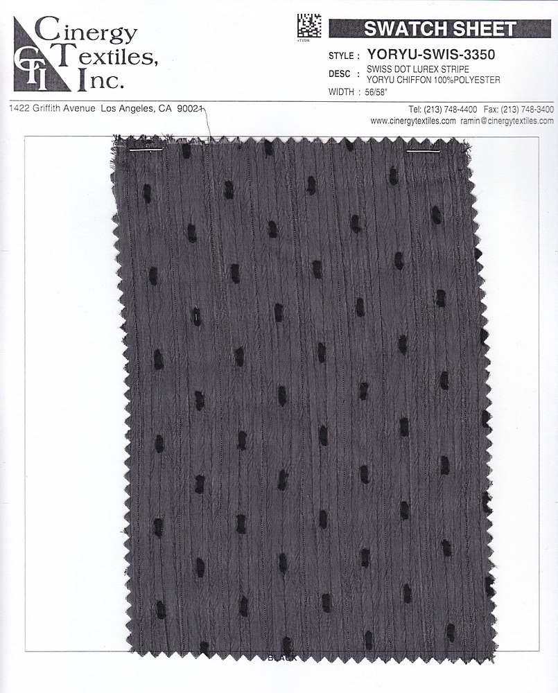 YORYU-SWIS-3350 / Swiss Dot Lurex Stripe Yoryu Chiffon 100%Polyester