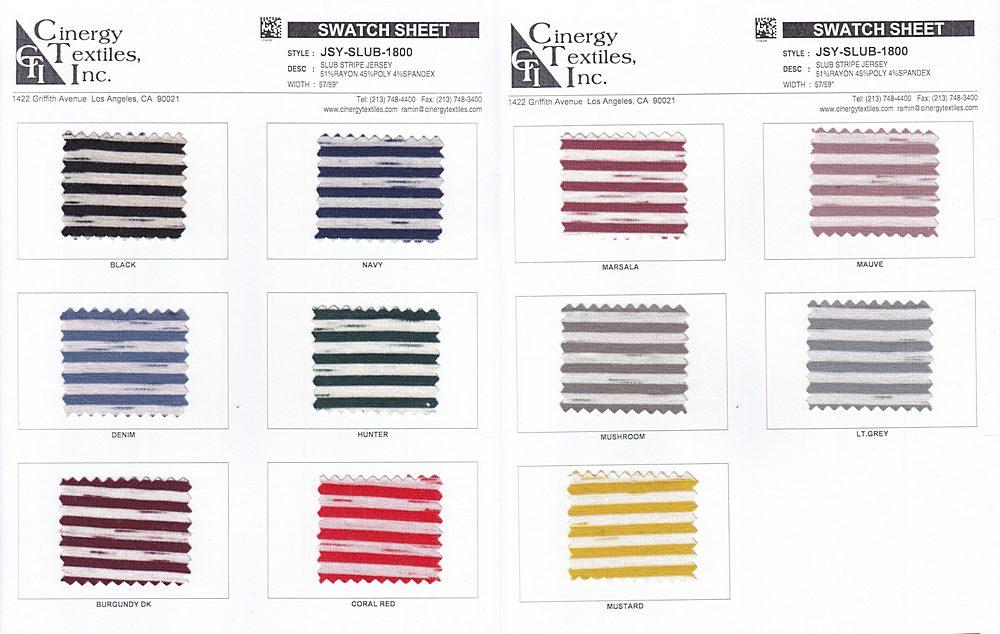 JSY-SLUB-1800 / Slub Stripe Jersey 51%Rayon 45%Poly 4%Spandex