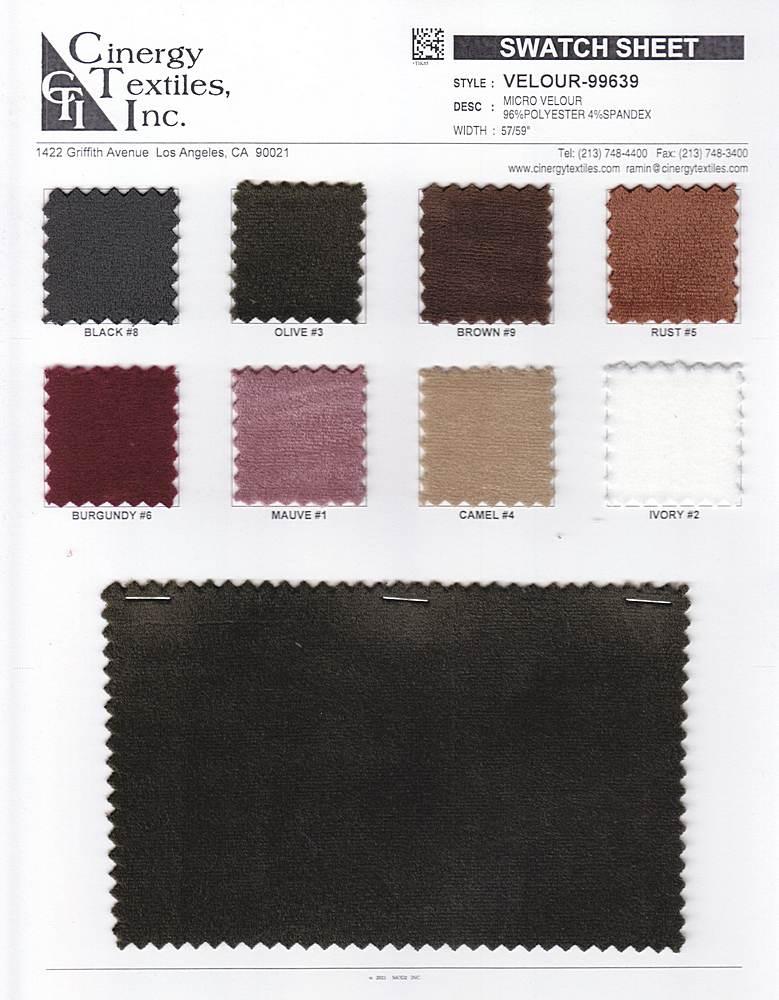 VELOUR-99639 / Micro Velour 96%Polyester 4%Spandex