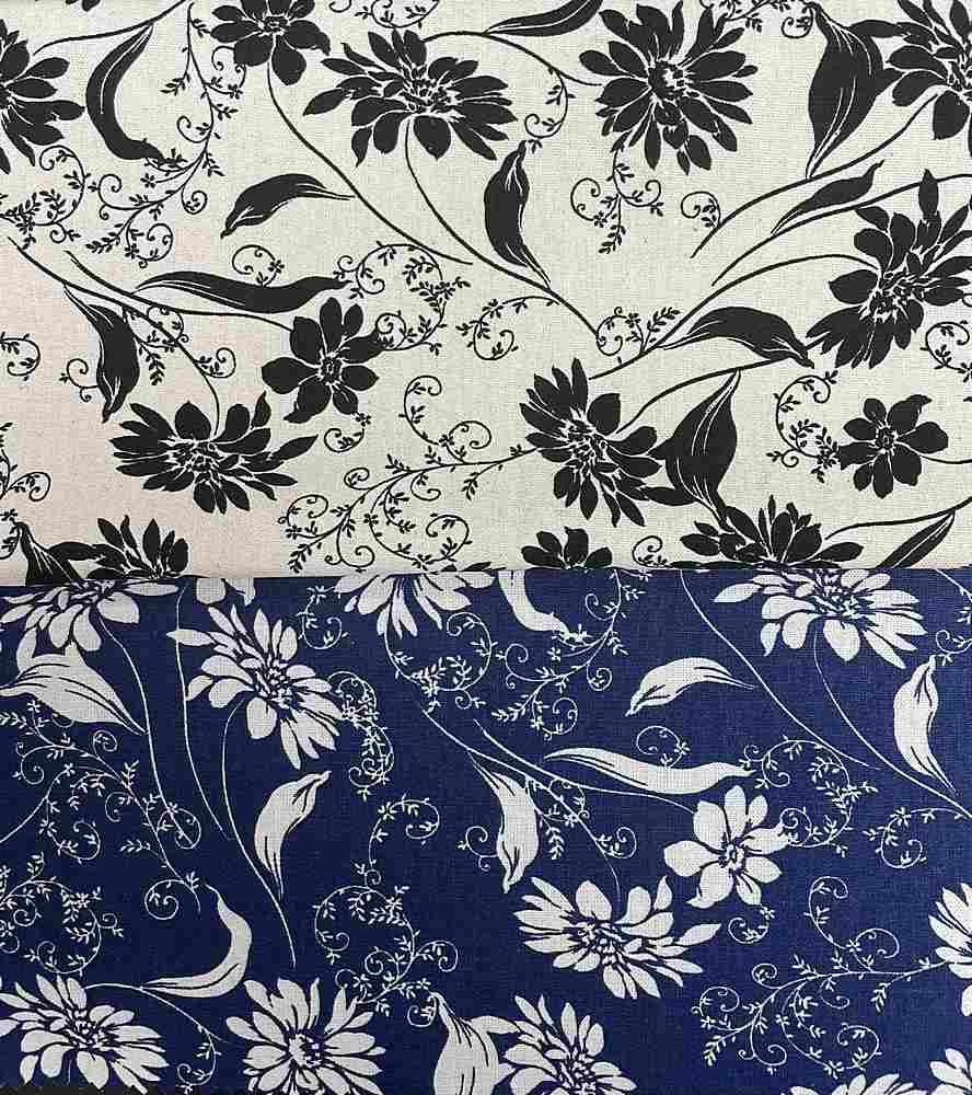 LR-31504-10770 / Floral Linen/Rayon 70%Rayon 30%Linen
