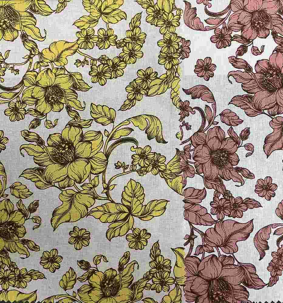 LR-31504-10060 / Floral Linen/Rayon 70%Rayon 30%Linen