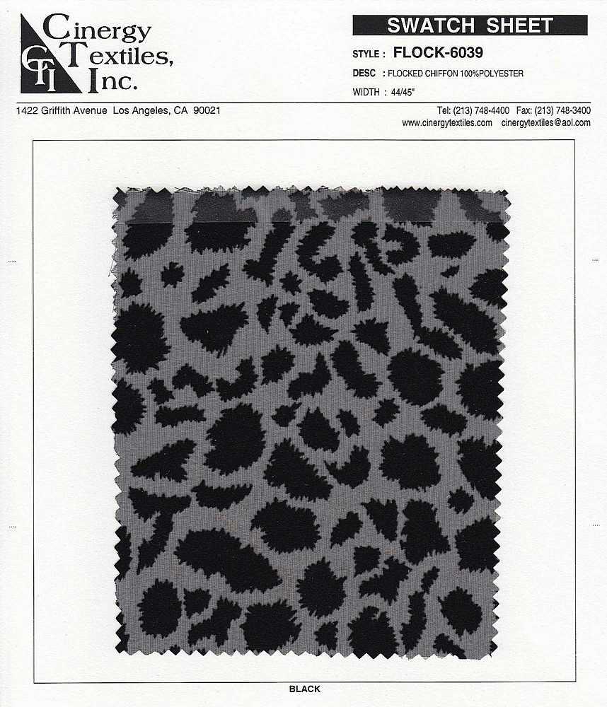 FLOCK-6039 / Woven Flocked Chiffon 100%Polyester