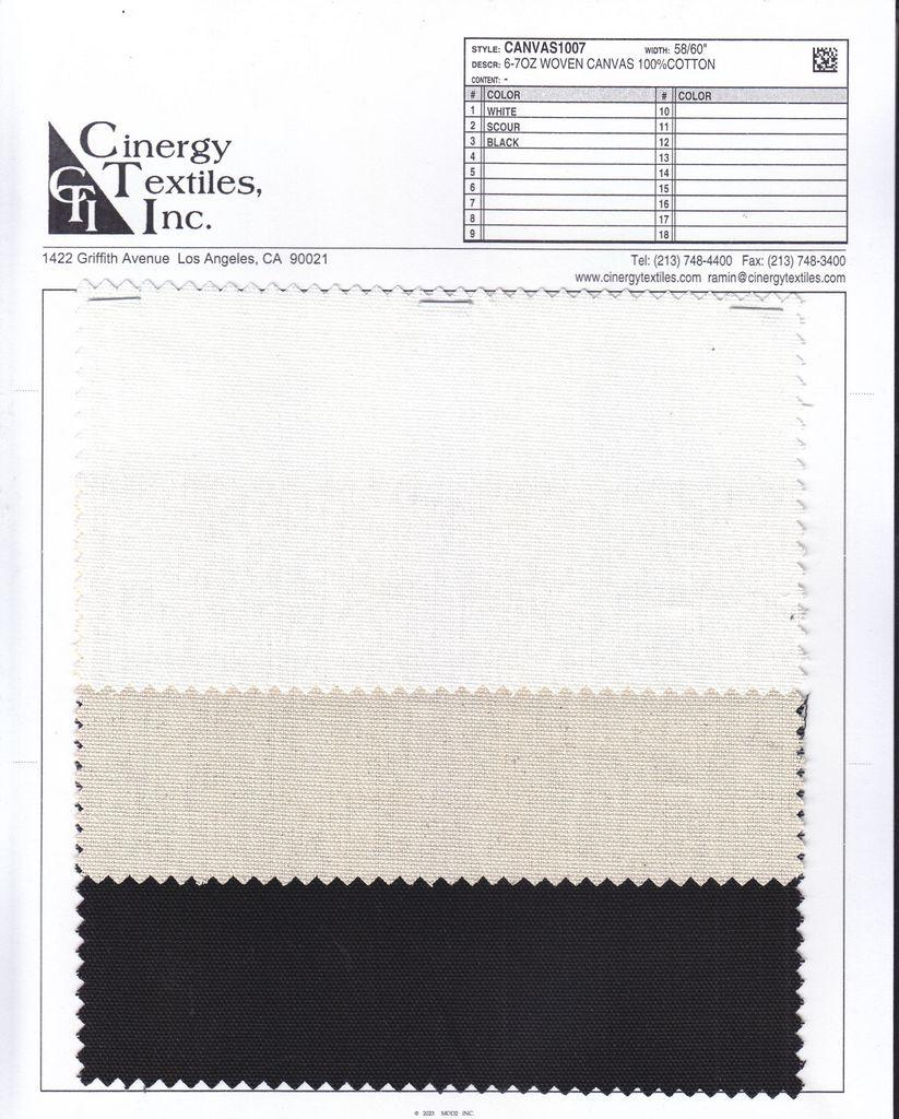 <h2>CANVAS1007</h2> / FAMILY          / 6-7oz Woven Canvas 100%Cotton