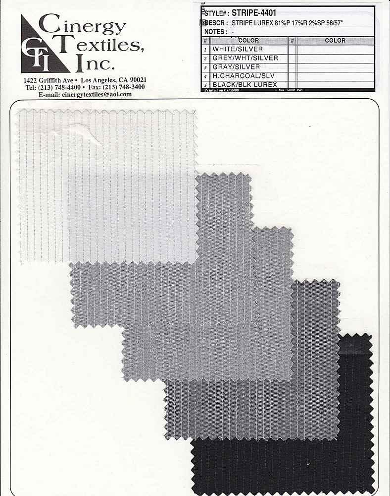 <h2>STRIPE-4401</h2> / FAMILY          / Stripe Lurex 81%P 17%R 2%SP