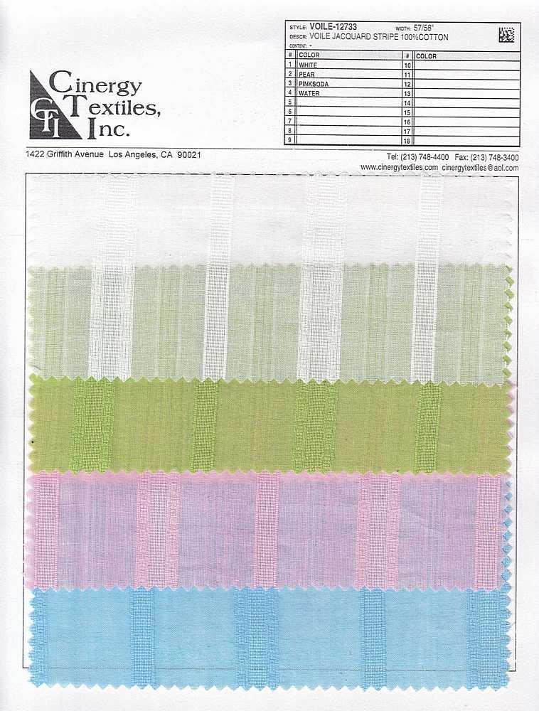 <h2>VOILE-12733</h2> / FAMILY          / Voile Jacquard Stripe 100%Cotton