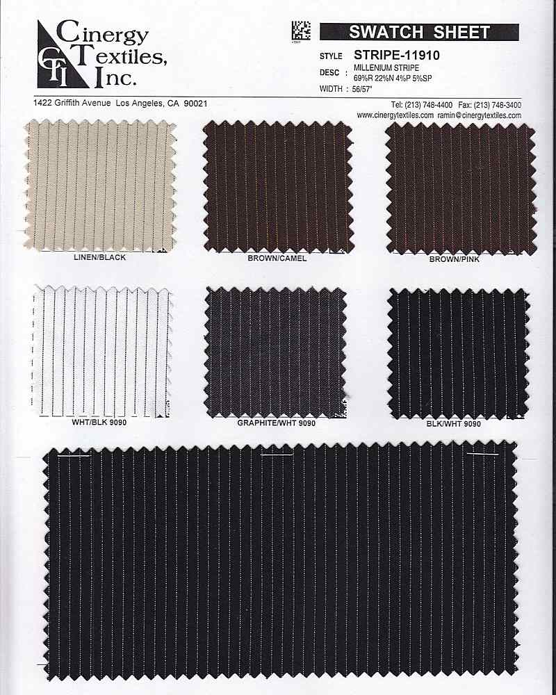 <h2>STRIPE-11910</h2> / FAMILY          / Millenium Stripe 69%R 22%N 4%P 5%SP