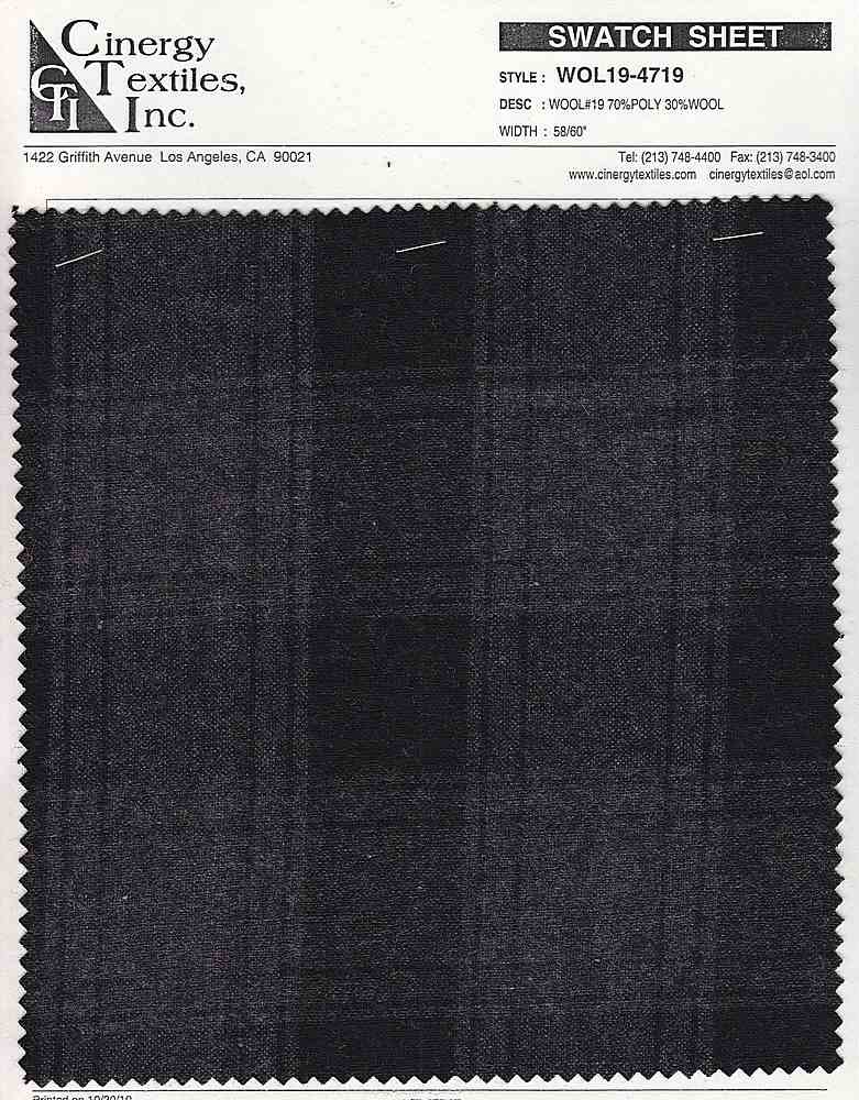 <h2>WOL19-4719</h2> / FAMILY          / WOOL#19 70%Poly 30%Wool
