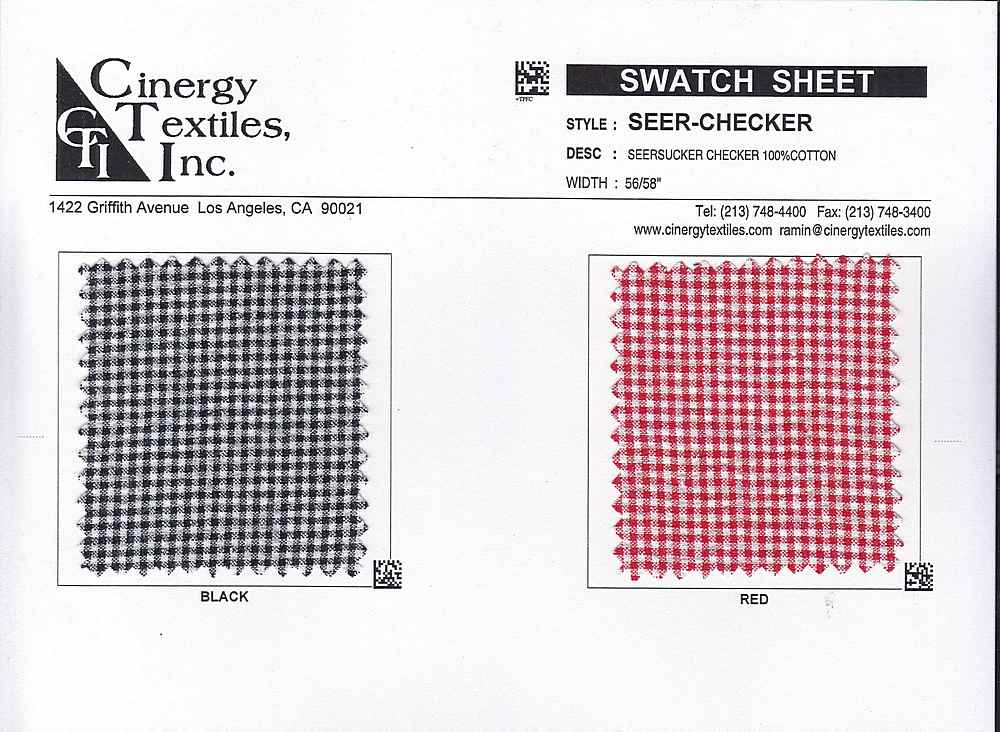 SEER-CHECKER / Seersucker Checker 100%Cotton