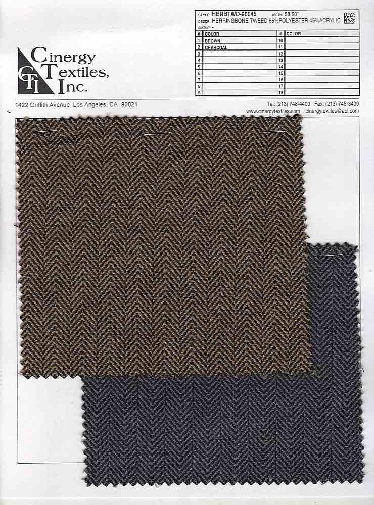 <h2>HERBTWD-90045</h2> / FAMILY          / Herringbone Tweed 55%Polyester 45%Acrylic