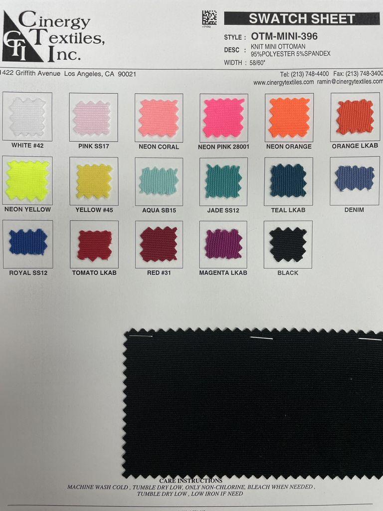 OTM-MINI-396 / Knit Mini Ottoman 95%Polyester 5%Spandex