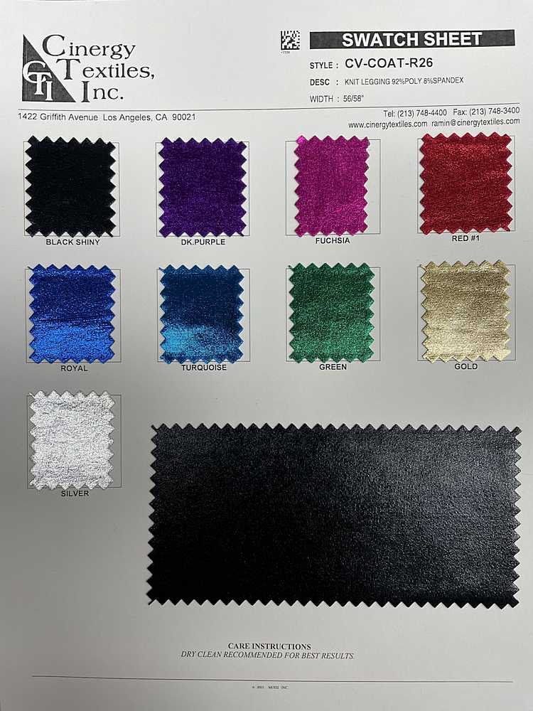 CV-COAT-R26 / Knit Legging 92%Poly 8%Spandex