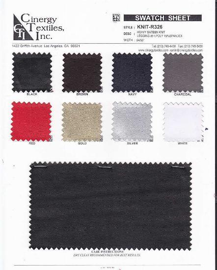 KNIT-R326 / Heavy Sateen Knit Legging 85%Poly 15%Spandex