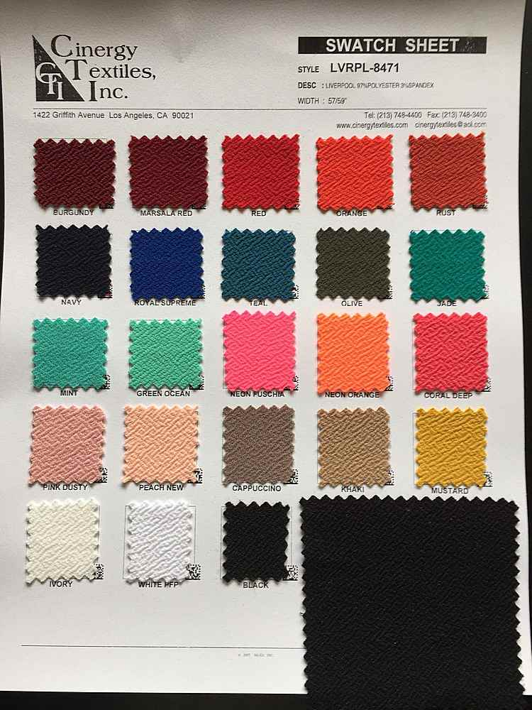 LVRPL-8471 / LIVERPOOL KNIT 97%Polyester 3%Spandex