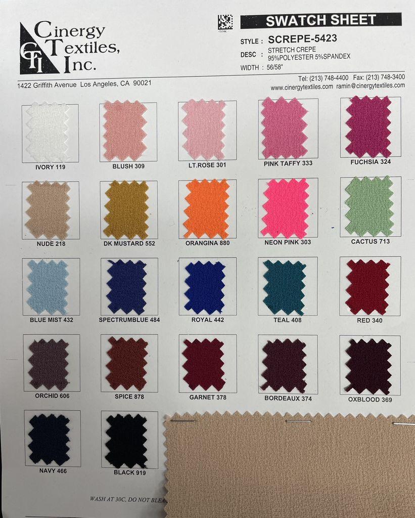 SCREPE-5423 / Stretch Crepe 95%Polyester 5%Spandex