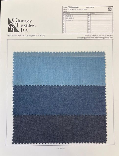 DENIM-99900 / 4oz Denim 100%Cotton
