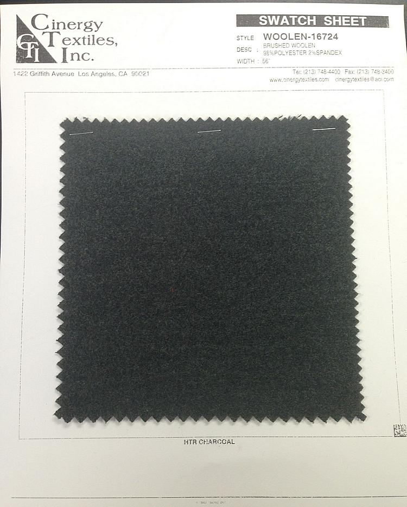 WOOLEN-16724 / Brushed Woolen 98%Polyester 2%Spandex