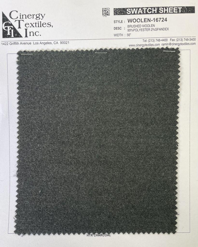 <h2>WOOLEN-16724</h2> / FAMILY          / Brushed Woolen 98%Polyester 2%Spandex