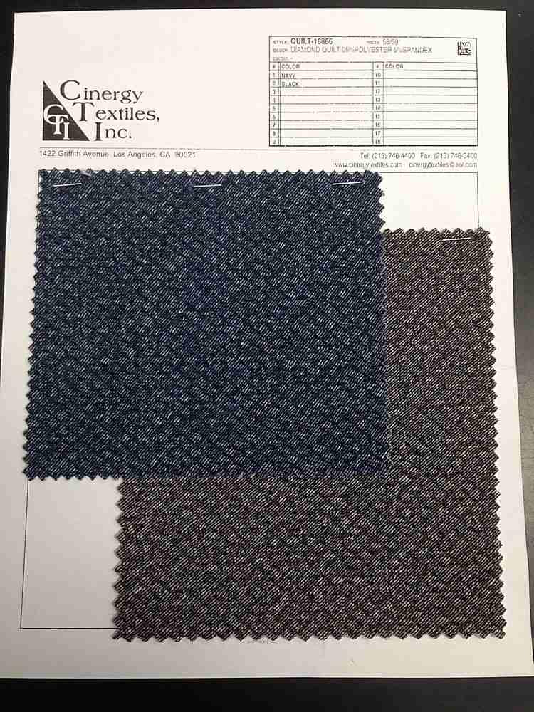 QUILT-18866 / Diamond Quilt Knit 95%Polyester 5%Spandex