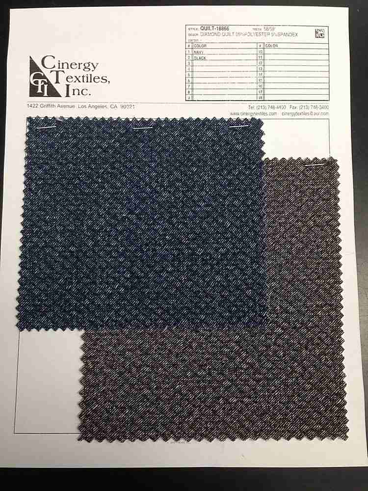 <h2>QUILT-18866</h2> / FAMILY          / Diamond Quilt Knit 95%Polyester 5%Spandex